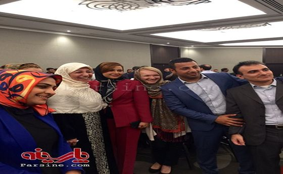 عکس: همسر ظریف در بین ایرانیان خارج از کشور