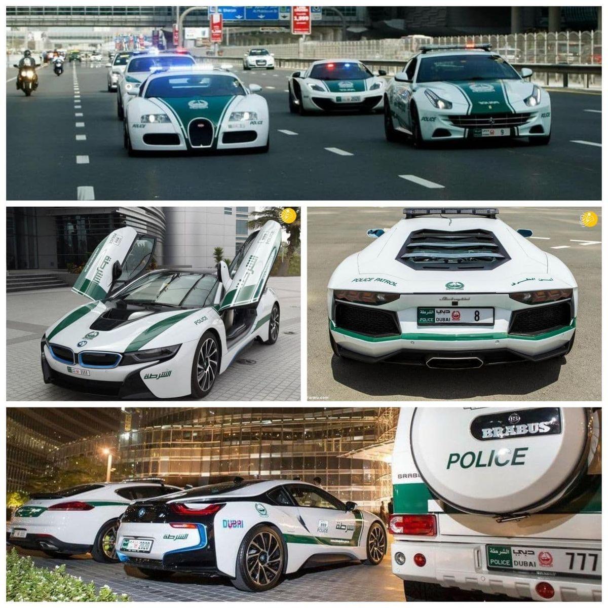 ابرخودروهای خیره کننده پلیس دبی +عکس