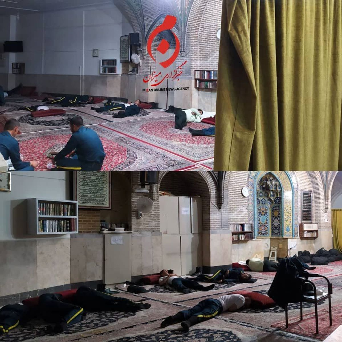 تصویر متفاوت پایانی از مسجد لرزاده در شب رای گیری