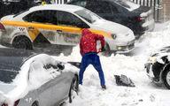 تصاویر: بارش برف باورنکردنی در مسکو