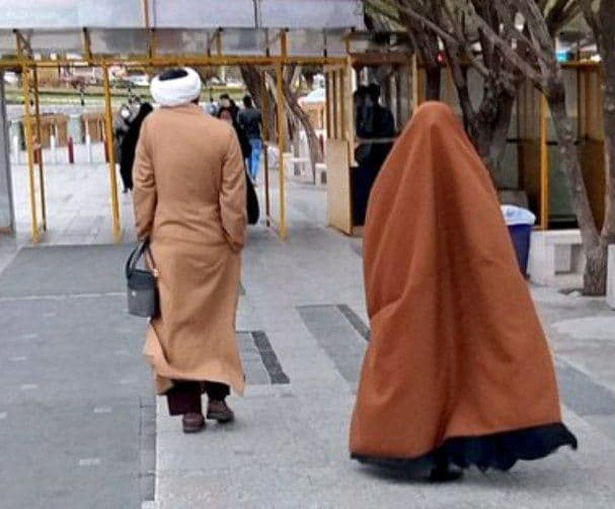تصویر متفاوت از یک روحانی و همسرش سوژه خبری شد