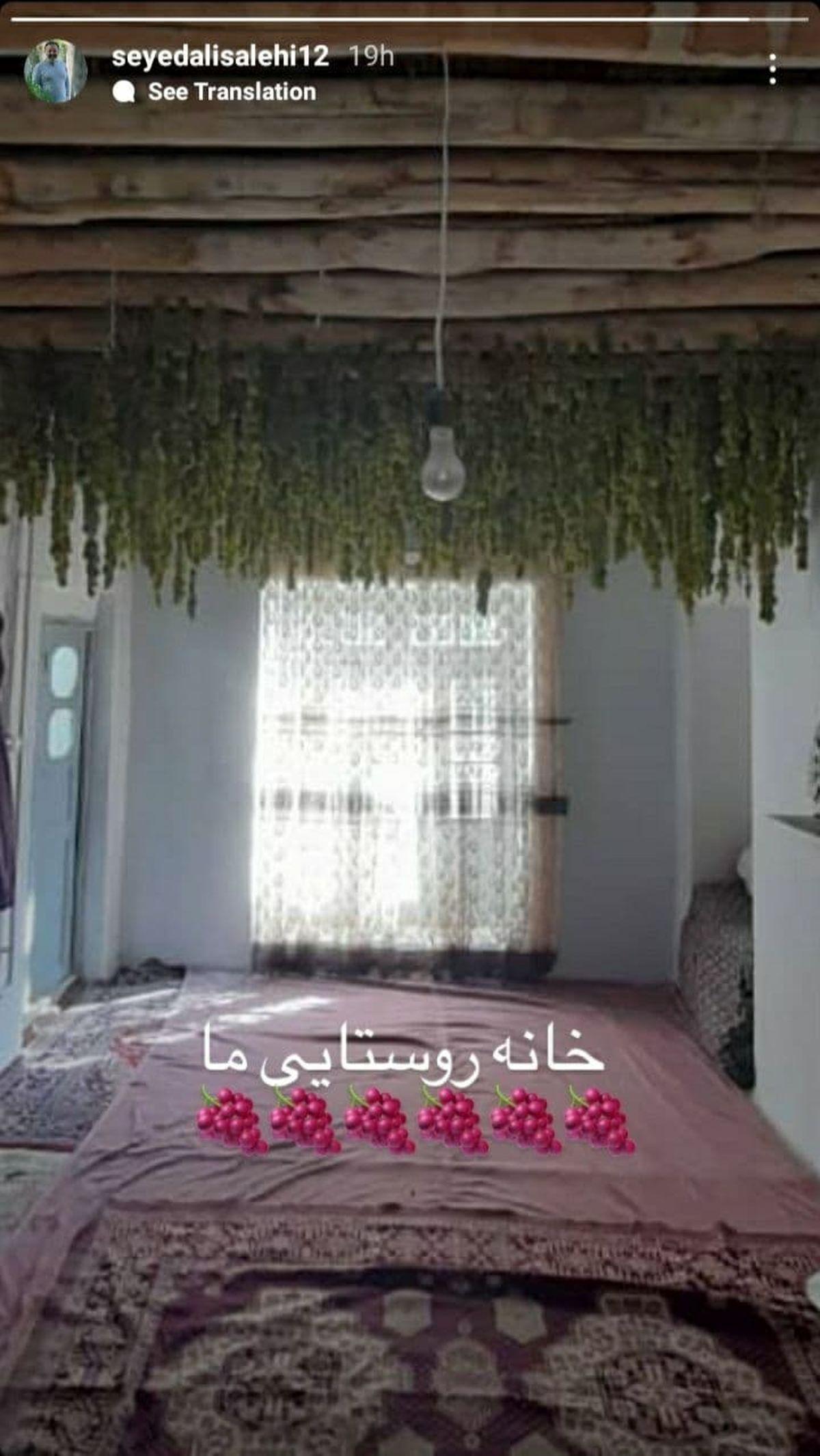 تصویری جالب از خانه روستایی بازیگر معروف