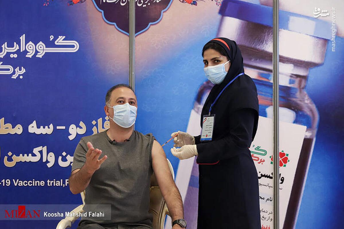 «محمد دلاوری» داوطلب تست بالینی واکسن کوو ایران +عکس