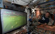 دیدن فوتبال حتی در ایستگاه بینالمللی فضایی +عکس
