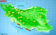 بارش پراکنده باران در برخی استانها