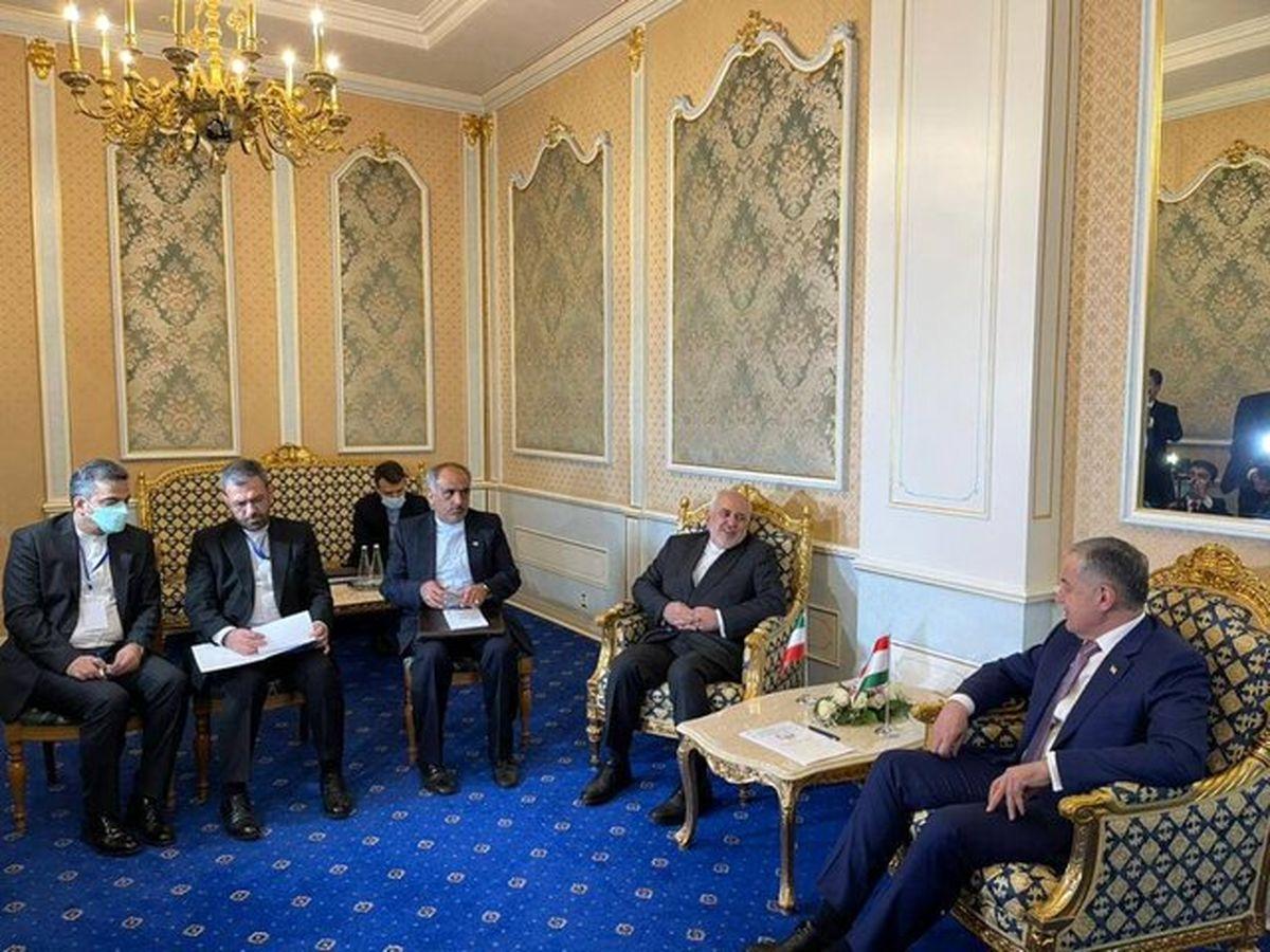 دیدار ظریف با همتای تاجیکستانی