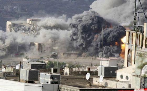 جنگندههای ائتلاف سعودی ۱۸ بار استان مأرب یمن را بمباران کرد