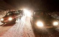 بارش برف در محورهای کوهستانی تهران