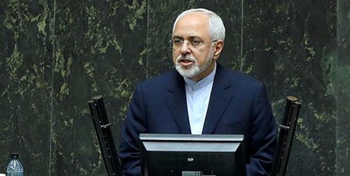 ظریف در صحن علنی: سیاست خارجه جای دعواهای جناحی نیست/ مهمترین هدف آمریکا مشروعیتزدایی از نظام است