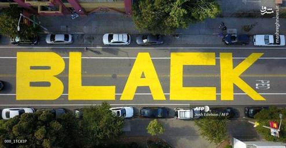 عکس: شعارنویسی در خیابانی در سانفرانسیسکو