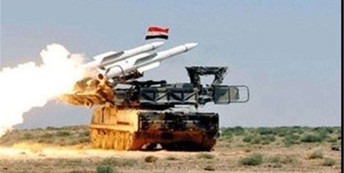 وقوع انفجار در سوریه/مقابله پدافند هوایی سوریه با تجاوز اسرائیل