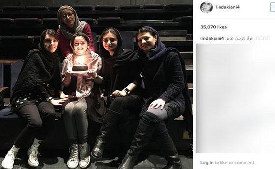 عکس: وقتی لیندا کیانی، خانم بازیگر را سورپرایز کرد