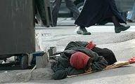 جان دادن گلبس بیخانمان درکنار هتل!