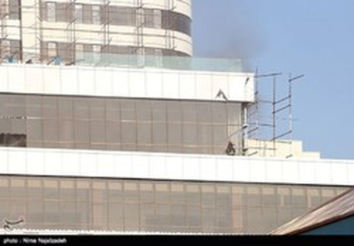 آتش سوزی در برجی در مشهد +عکس