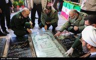 تصاویر: حضور فرمانده کل سپاه در گلزار شهدای کرمان