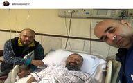 عیادت «علی مسعودی» از «علی صالحی» در بیمارستان
