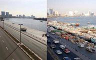 لنجهای ایرانی در دبی قبل و بعد کرونا +عکس
