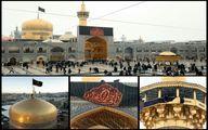 عکس: حرم امام رضا علیه السلام سیاه پوش شد