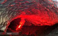 تصاویر: غار یخی در کوه آتشفشان