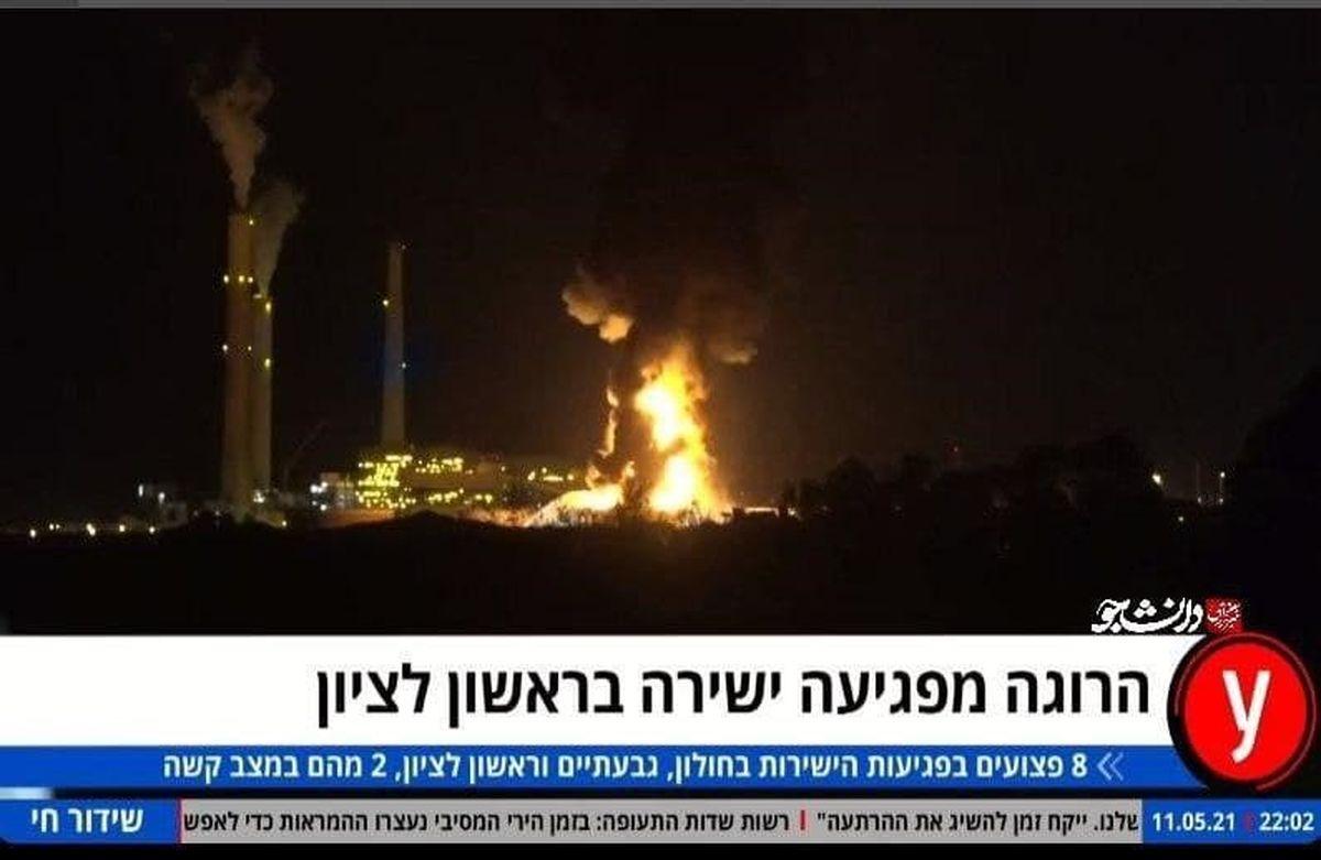 نیروگاه عسقلان آتش گرفت +فیلم