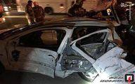 عکس: تصادف زنجیرهای ۴ خودرو در بزرگراه کرج