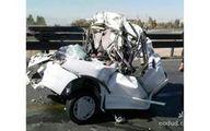 تصویر وحشتناک جسد راننده در پراید مچاله شده! +عکس (۱۶ +)