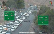 ترافیک سنگین در جاده چالوس +عکس