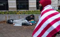 تظاهرات در واشنگتن از دید یک بی خانمان! +عکس