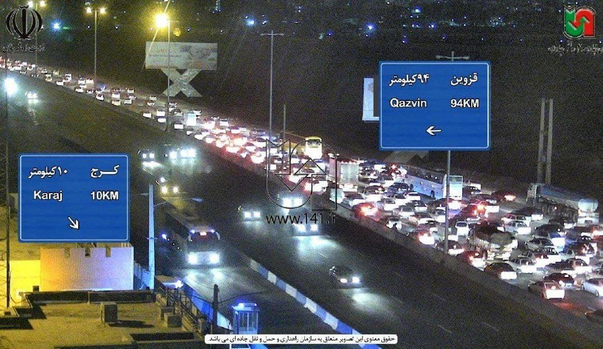 ترافیک عجیب در آزادراه کرج_قزوین +عکس