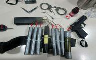 تصاویر: تجهیزات تروریست دستگیر شده در عوارضی تهران - قم