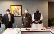 دیدار امیر حاتمی با وزیر دفاع هند +عکس