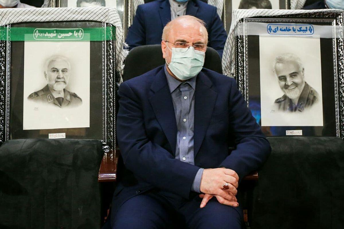 رئیس مجلس در آیین دوسالانۀ انتخاب آثار برتر مدافعان حرم +عکس