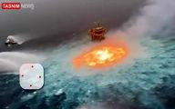 اولین تصاویر از آتشسوزی مهیب در اقیانوس!