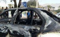 آتش سوزی عمدی خودروی مدیر آبادانی +عکس