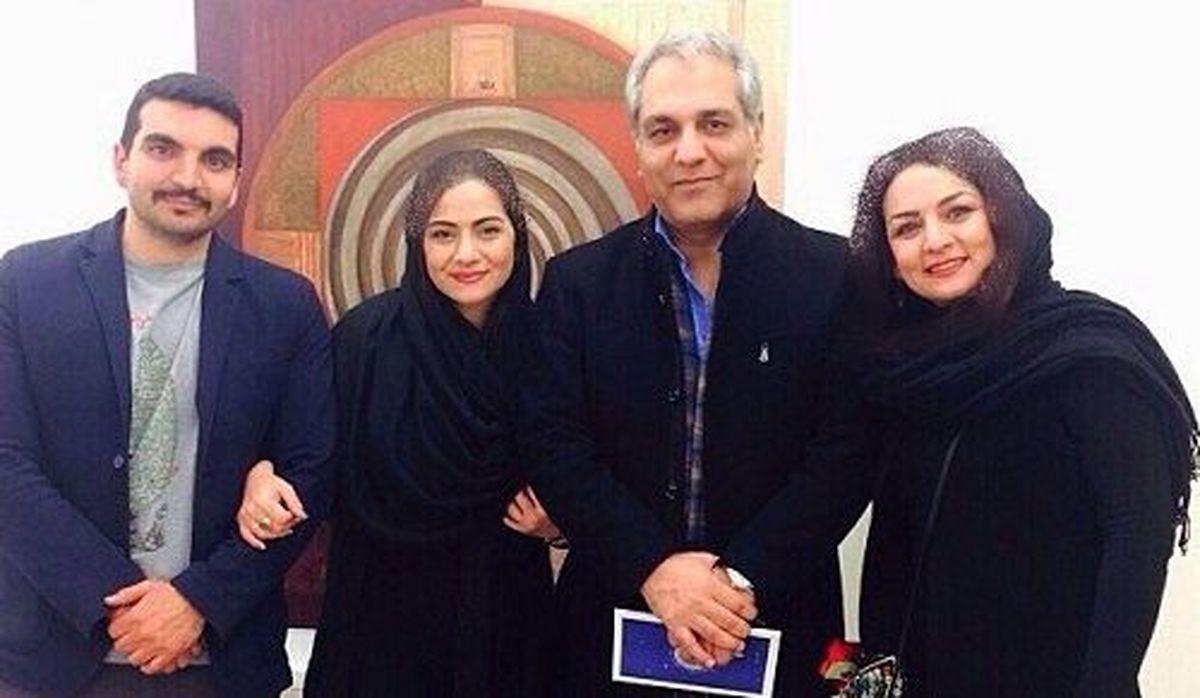 عکس: مهران مدیری در کنار همسر و فرزندش