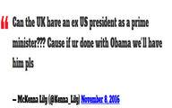 آیا اوباما نخستوزیر انگلیس میشود؟ +تصاویر