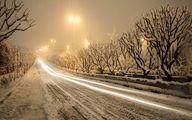 برف و باران در محورهای تهران-شمال