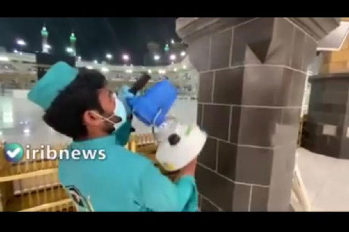 تصاویری از ضدعفونی مکه برای برگزاری حج