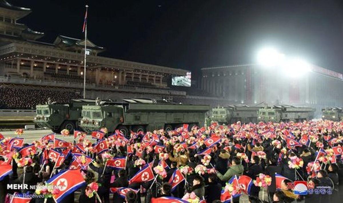 تصاویر: رونمایی کره شمالی از موشکهای بالستیک جدید