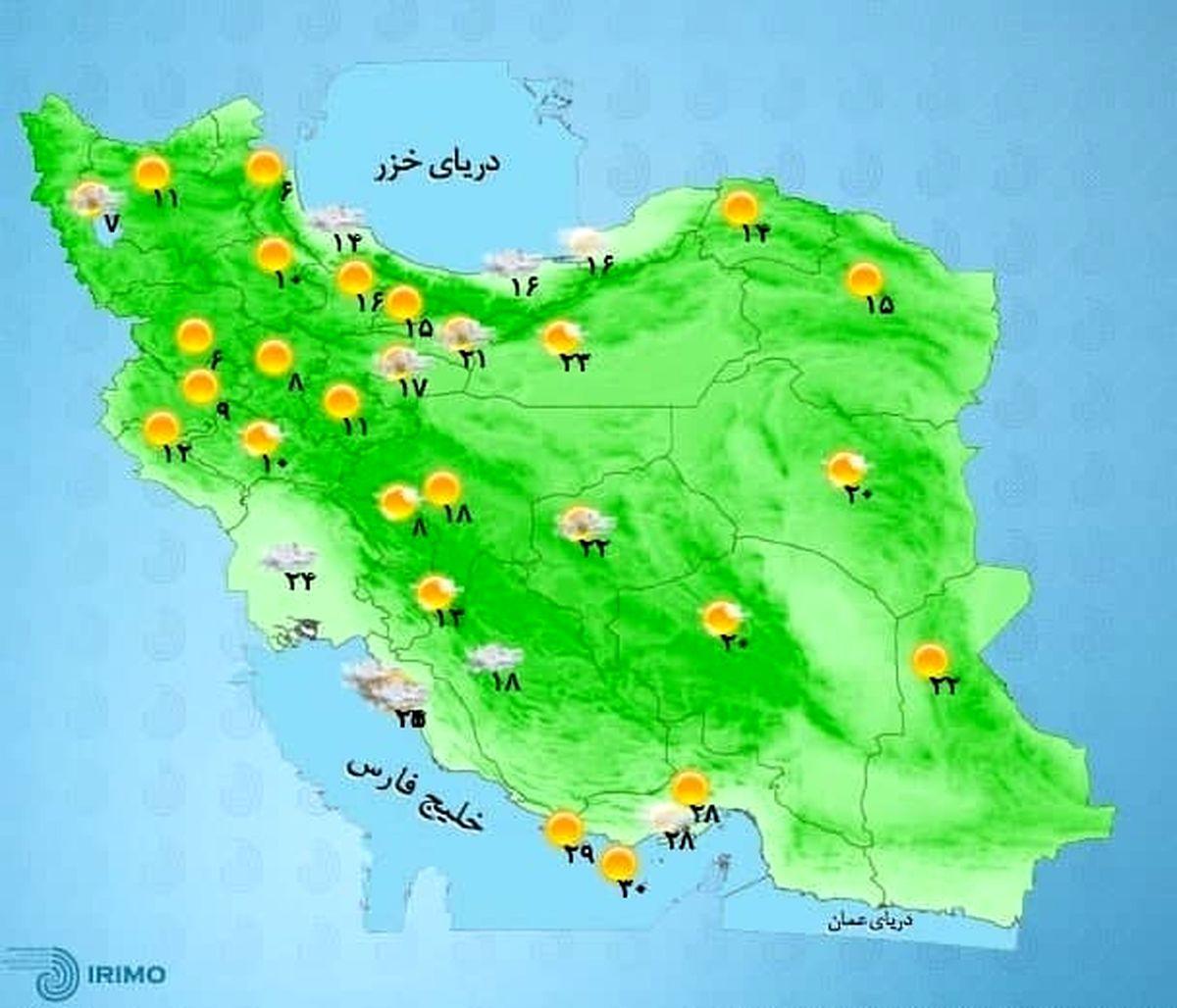 باران بهاری و وزش باد شدید در اغلب استانها