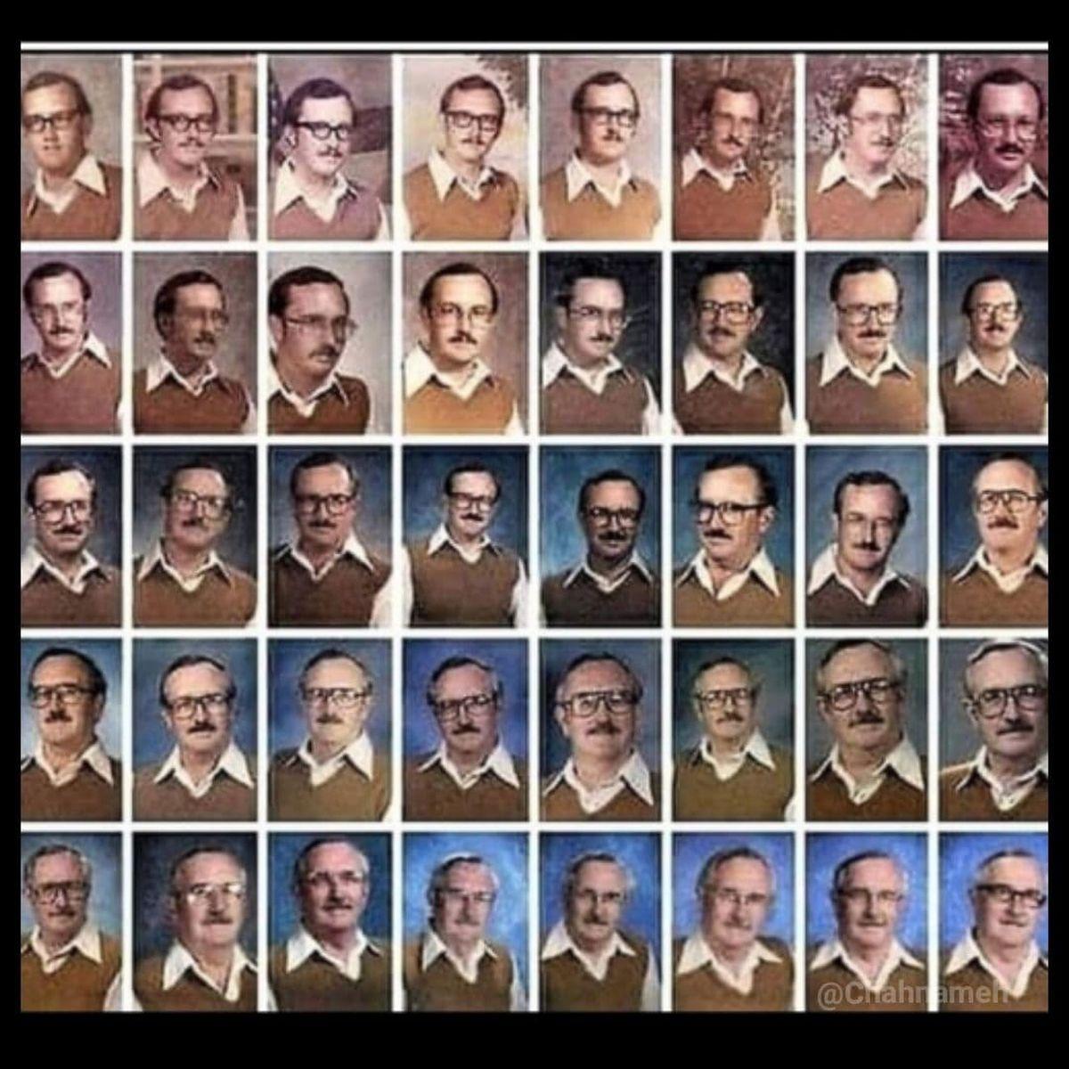 عکس های جالب 40 ساله یک معلم از خودش