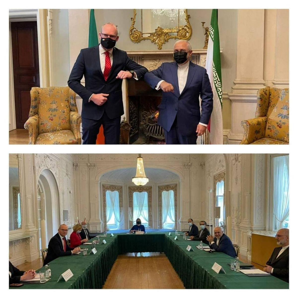 آغاز مذاکرات ظریف در دوبلین پایتخت جمهوری ایرلند +عکس
