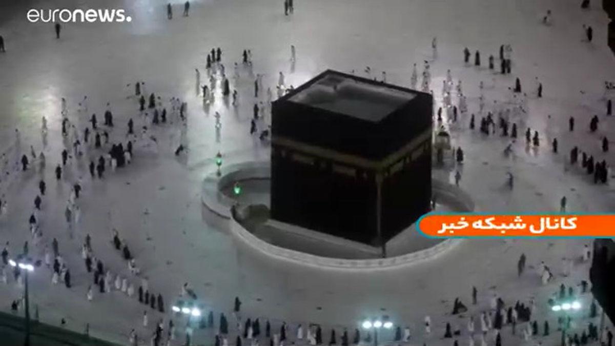 تصویر خانه خدا در نخستین روز ماه رمضان  در عربستان