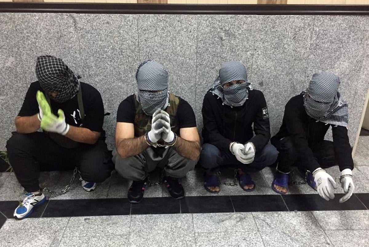 فیلم هولناک حمله 4 داعشی به طلافروشی تهران + عکس و گفتگو با داعشیان سنگدل