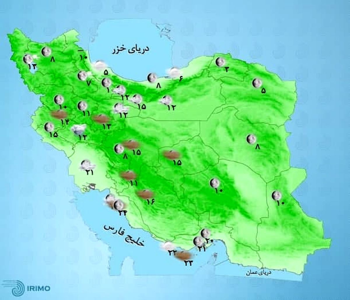 هوای کدام استان ها تا آخر هفته بارانی است؟