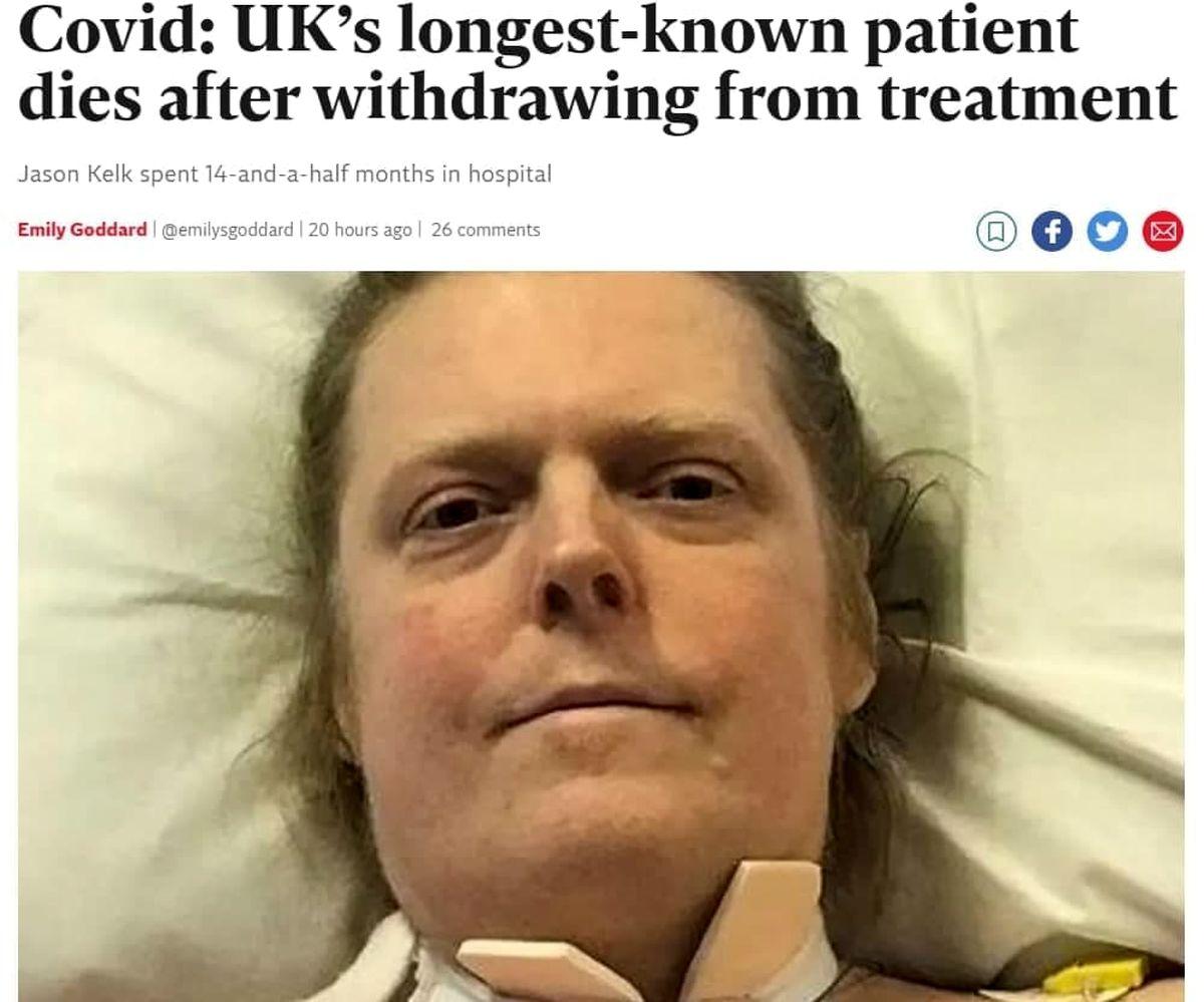 طولانی ترین بیمار کرونایی +عکس