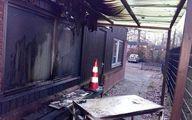 یک مسجد در هلند به آتش کشیده شد