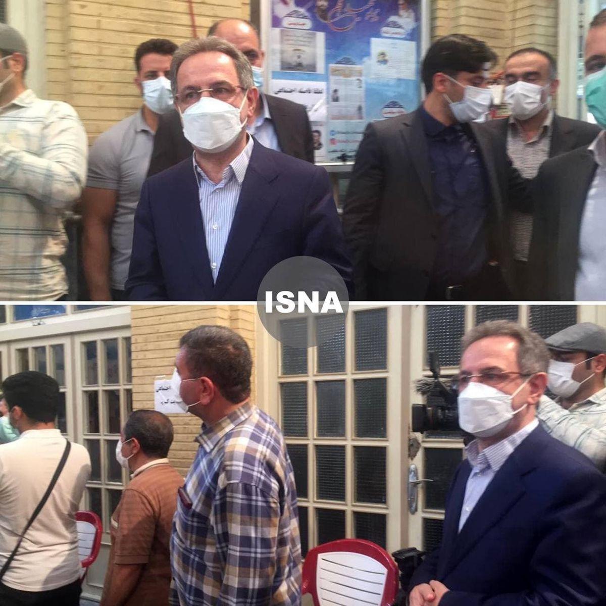 استاندار تهران در صف رای گیری +عکس
