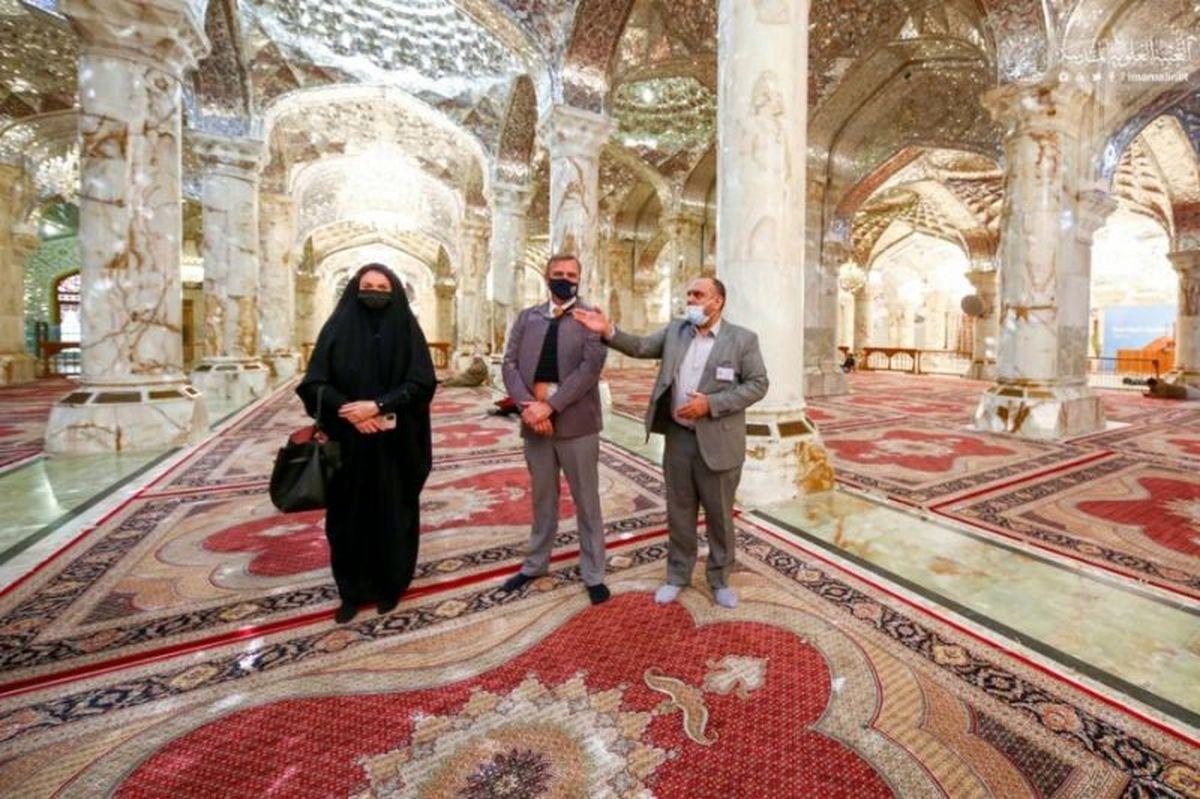 سفیر هلند در حرم امام علی(ع) +تصاویر