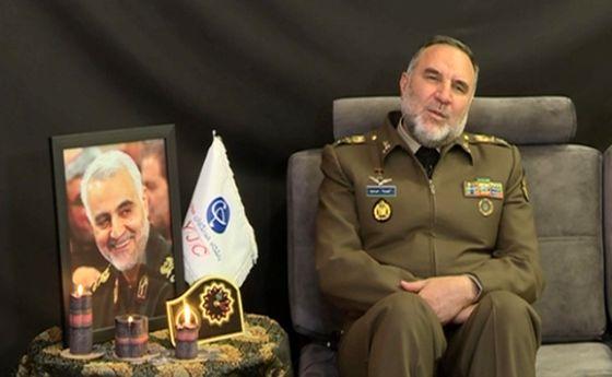 بغض امیر سرتیپ حیدری هنگام صحبت از سردار سلیمانی +فیلم